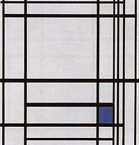 Mondrian, Compositie met blauw.jpg