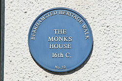 Photo of The Monks House blue plaque