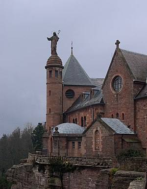 Herrad of Landsberg - Hohenburg Abbey at the Mont St Odile