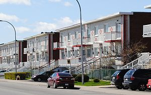 Saint-Leonard, Quebec - Typical housing in Saint-Leonard.