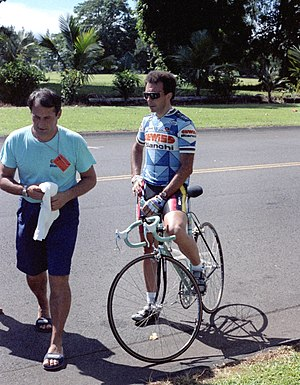 1987 Giro d'Italia - Moreno Argentin (pictured during the Coors Classic in 1987) won three individual stages at the 1987 Giro.