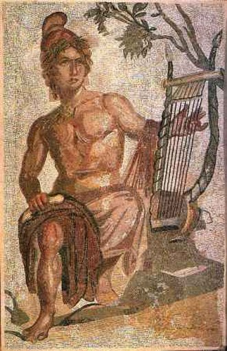 Sardinia and Corsica - Mosaic from Carales depicting Orpheus