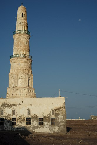 Mocha, Yemen - Minaret of Mocha Mosque.