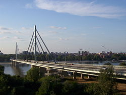 Rebuilt Liberty Bridge in 2005. It was originally destroyed in 1999.