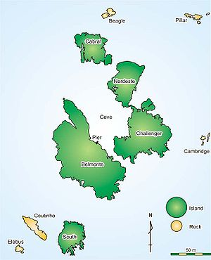 Saint Peter and Saint Paul Archipelago - Map of the Saint Peter and Saint Paul Archipelago