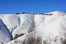 La cima del Mottarone in inverno