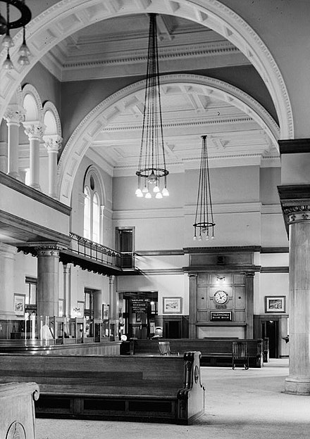 The station's interior in 1958