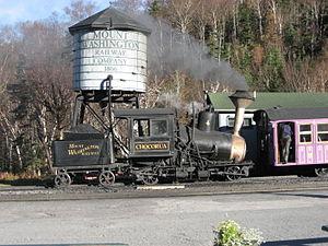 Green Mountain Cog Railway - Image: Mount Washington Cog Railway Chocorua