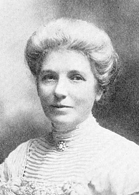 Kate Sheppard is the country's most famous suffragist. Mrs. K. W. Sheppard (cropped).jpg