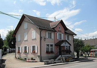 Muespach-le-Haut - The town hall in Muespach-le-Haut
