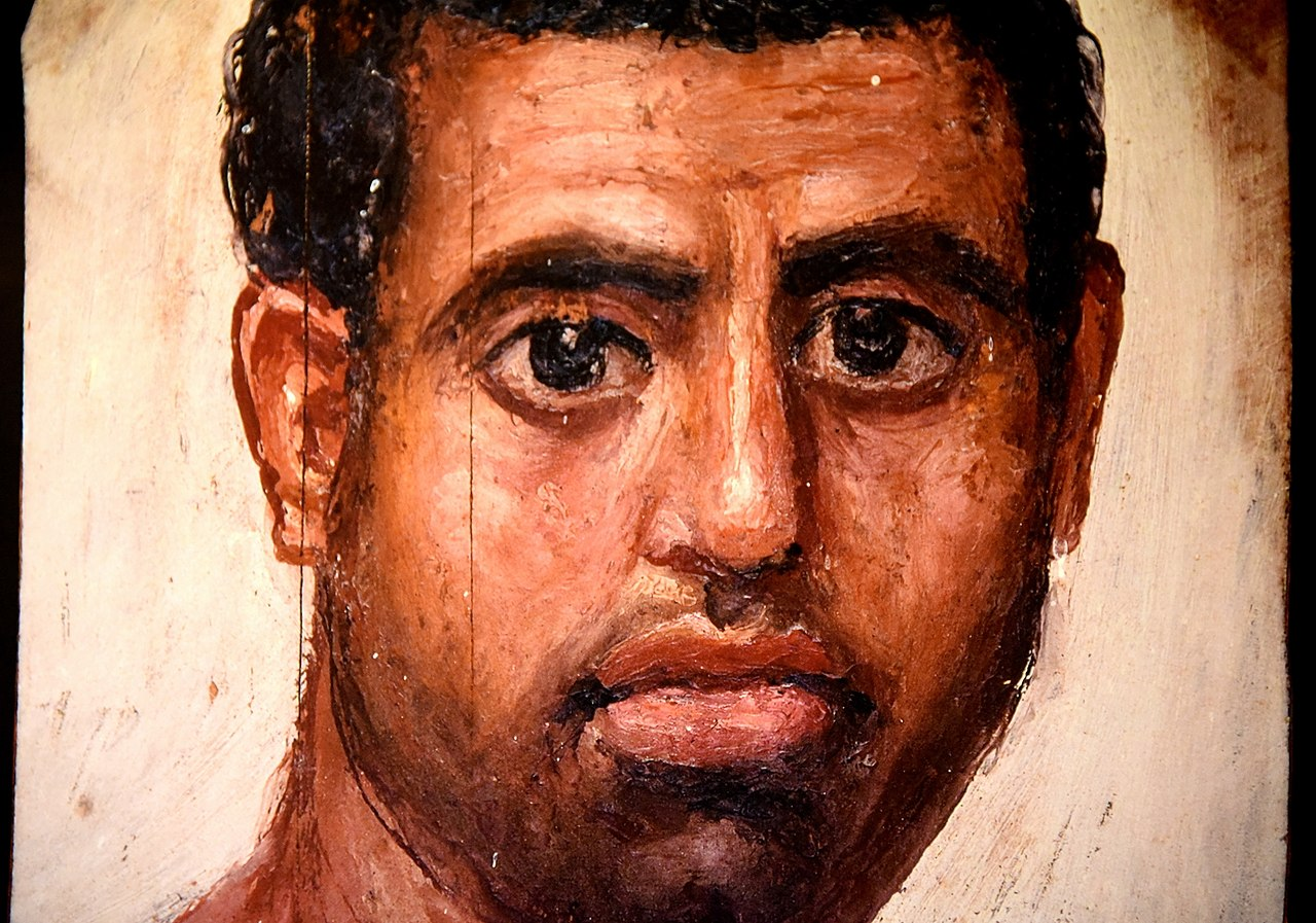 Fayum Portrait in encaustic