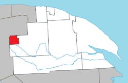 Posizione all'interno di La Côte-de-Gaspé RCM.