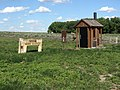 Murphy Trailhead marker and outhouse in Cimarron National Grassland (658cc4bac2dd4bbdb8173ff4fb49f959).JPG