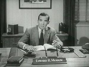 English: Edward R. Murrow discuss the ideologi...