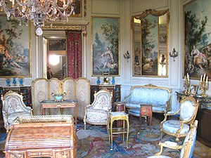 Louis Quinze - A room furnished in the Louis XV style