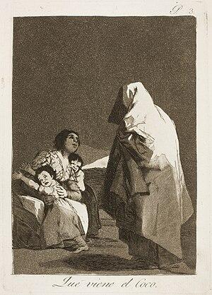 Los caprichos - Image: Museo del Prado Goya Caprichos No. 03 Que viene el Coco