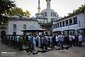 Muslims perform the Eid Al-Adha prayer at Eyup Sultan Mosque 2019-08-11 08.jpg