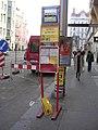 Náměstí Republiky, přenosný zastávkový sloupek.jpg