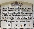 Nínxol a Guadassuar. Làpida amb rajola valenciana del segle XIX (1867).jpg