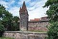 Nürnberg, Stadtbefestigung, Frauentormauer, Mauerturm Rotes M 20170616 003.jpg