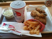 Fast-Food-Menü bei Kentucky Fried Chicken