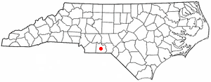 Wadesboro, North Carolina - Image: NC Map doton Wadesboro