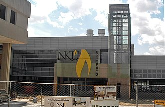 Northern Kentucky University - Northern Kentucky University's new Student Union building, under construction as of June 2008