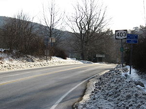 New York State Route 403 - NY 403 begins here at NY 9D in Philipstown