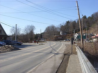 New York State Route 97 - NY 97 at the junction with NY 55 and CR 11 in Barryville