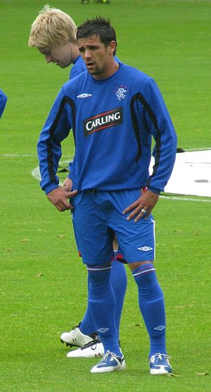 Nacho Novo - Novo warming up for Rangers in 2009