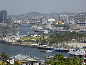 Waterfront in Nagasaki, Japan