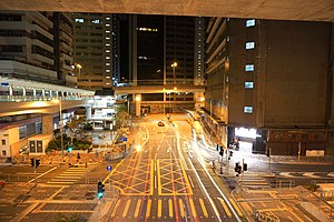 Nam Long Shan Road north end at night.jpg