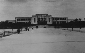 Nanning railway station - The station building in 1951