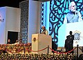 Narendra Modi addressing at Sesquicentennial function of Advocates' Association of Western India, in Mumbai, Maharashtra. The Governor of Maharashtra, Shri C. Vidyasagar Rao and the Union Minister for Law & Justice.jpg