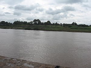 Panchganga River - The Panchganga River at Narsobawadi