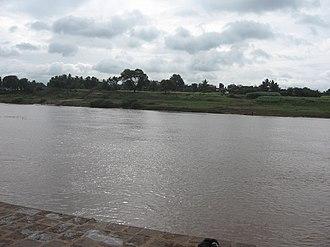 Panchganga River - The Panchganga River at Narsobawadi