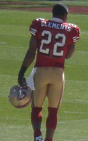 Nate Clements - Clements on the field prior to a game against the Philadelphia Eagles on October 12, 2008