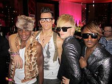 Nathan Lee Graham with Kyle Brown and KIKI TWINS at Michael Musto 25th Anniversary Party, NYC.jpg