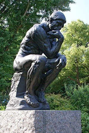 "Kōjirō Matsukata - Rodin's ""The Thinker"" near the entrance of the National Museum of Western Art."
