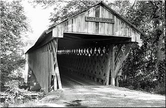 Nectar Covered Bridge - An old photo of the Nectar Covered Bridge.