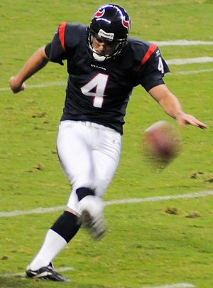 Neil Rackers - Rackers in a 2010 preseason game against the Dallas Cowboys