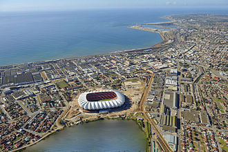 Port Elizabeth - The Nelson Mandela Bay Stadium in 2009