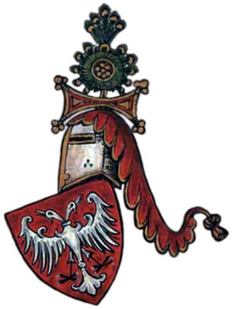 Stefan Dečanski - Image: Nemanjić dynasty coat of arms, Palavestra