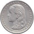 Netherlands, 1897 - Guilder (obverse), Welhelmina.jpg