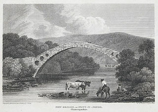 New Bridge, or Pont-Y-Prydd, Glamorganshire