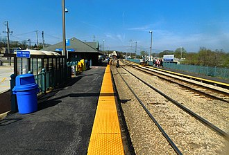 New Lenox station - The New Lenox station in April 2016.
