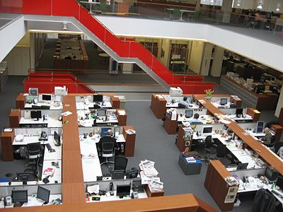 New York Times newsroom.