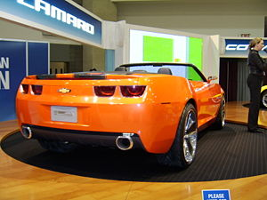 Chevrolet Camaro (fifth generation) - 2007 Camaro Convertible Concept