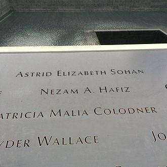 Nezam Hafiz - Nezam Hafiz 9/11 memorial