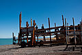 Ngawi fishing boat cradles,Wairarapa, New Zealand, 25th. Jan. 2011 - Flickr - PhillipC (2).jpg